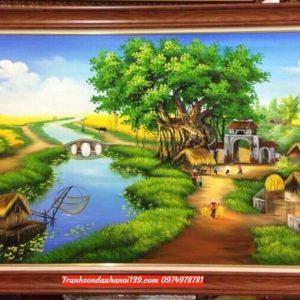 Bức tranh độc đáo về đề tài đồng quê